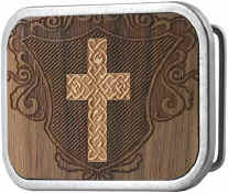 Celtic Cross in Brown Wood background