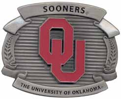 OCB048 OU Oklahoma University Buckle