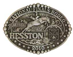 2010 Hesston National Finals Rodeo Buckle, Adult Size