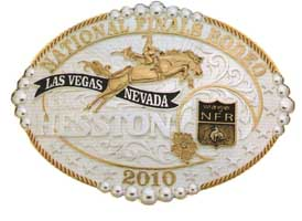 2010 Hesston NFR Buckle, Gold and silver