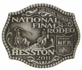 2011 Hesston NFR buckle National Finals Rodeo