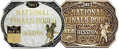 2017 Hesston Gold and Silver Buckle and Brass Buckle