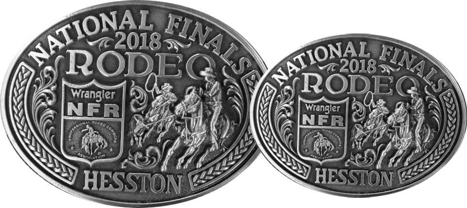 Hesston National Finals Rodeo Belt Buckles