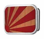 318143 Rising sun on wood buckle