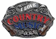 E80E Country Music buckle