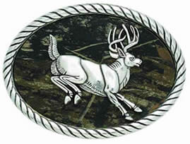 Camouflage Jumping Deer buckle