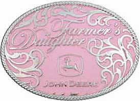 Pink John Deere Farmer's Daughter buckle