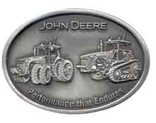 JD623 John Deere 2 Tractors plain pewter color
