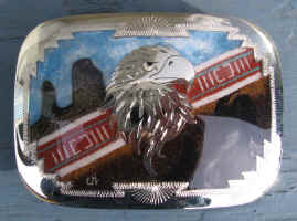 JH04 Silver Eagle Head Sand Painting Rectangle.jpg (161884 bytes)
