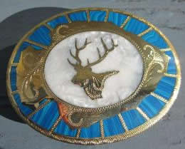 Elk Arrowhead white buckle