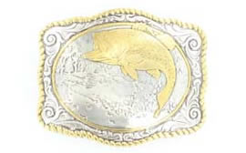 Fishing Buckle in Gold and Silver color finish