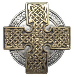 Gold and Silver Celtic Knot