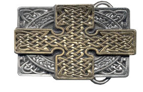 Gold and silver plate Celtic knot