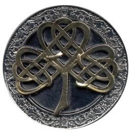 Gold silver Celtic Tree buckle