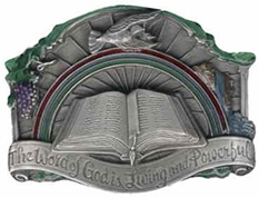 The Word of God bible buckle