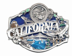 California buckle with color