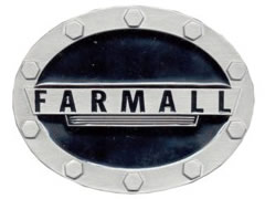Farmall black oval belt buckle
