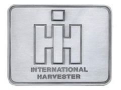 IH pewter color rectangular buckle