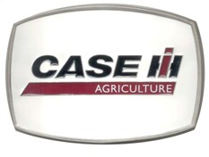 Case logo buckle with white background