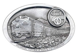 Atchison Topeka Santa Fe Super Chief Train buckle