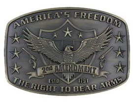 2nd Ammendment buckle
