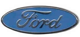 Ford Logo Chrome and Blue Oval belt buckle
